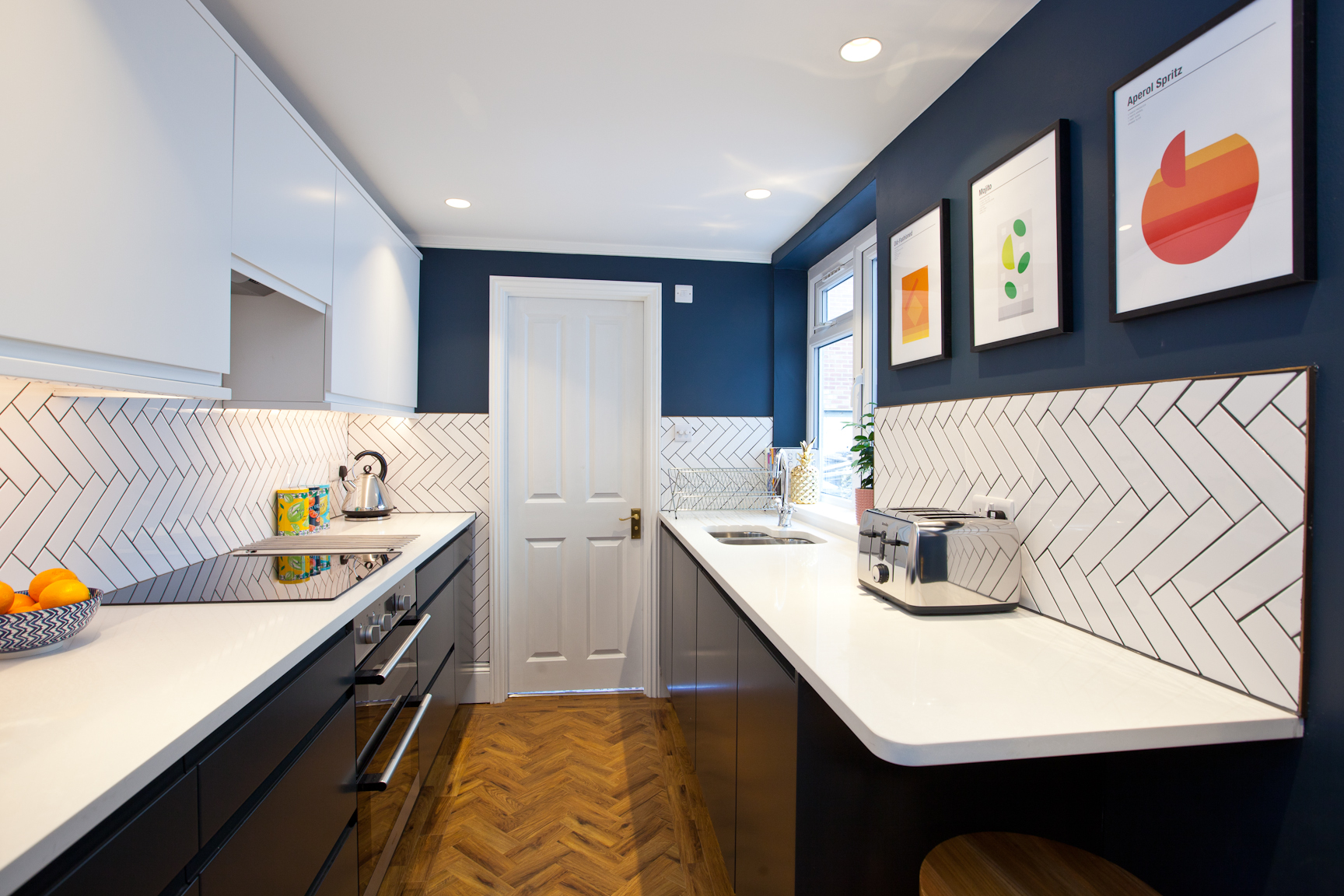 modern kitchen build